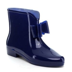 Shoes - Blue Bow Rubber Boots