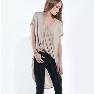 "Bare Anthology Tops - ""Madhatter"" Twist Front High Low Top"