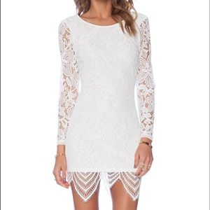 Lovers and friends White lace bodycon dress