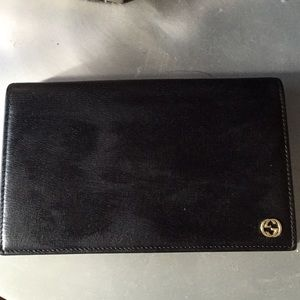 Black epi leather Gucci wallet/clutch