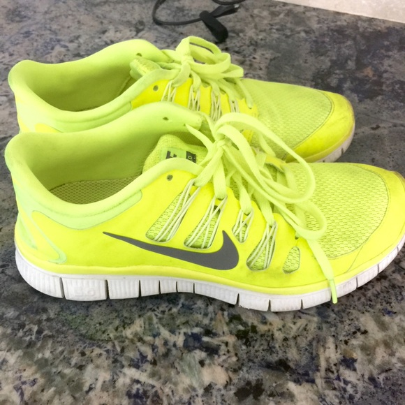 yellow sneakers nike fluorescent