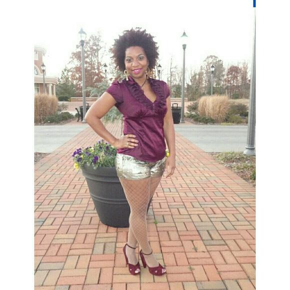Pants - ✳ Bronze Sequins Shorts ✳