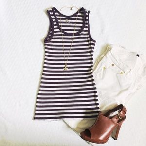 GAP grape striped tank