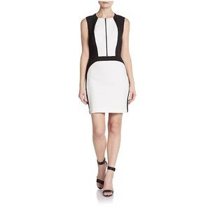 Robert Rodriguez two tone techno sheath dress