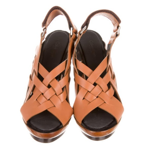 Calvin Klein Collection Woven Leather Sandals cheap sale marketable big sale cheap price in China cheapest price cheap price order online rk78dPNA7