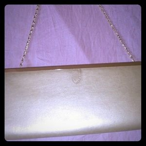 Handbags - Gold clutch with chain