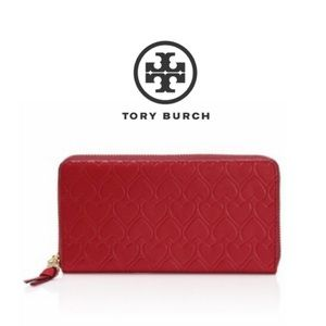 Tory Burch heart-embossed wallet