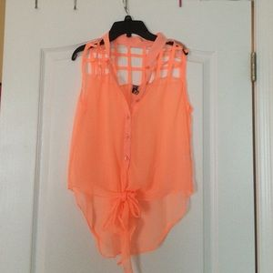 Poof Couture Tops - Neon Orange top