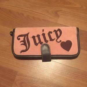 Juicy Couture pink velvet wallet