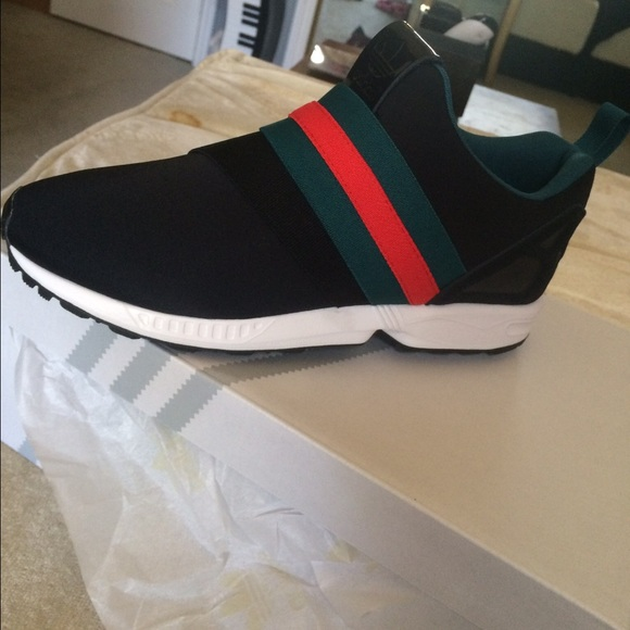Custom Gucci Adidas Zx Flux Slip on sneakers
