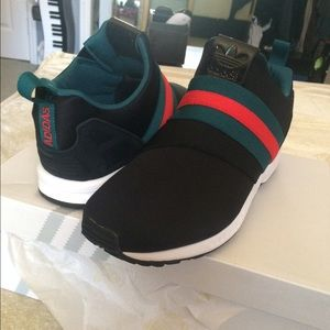 the latest c4ce4 a67d9 ... Adidas Shoes - Custom Gucci Adidas Zx Flux Slip on sneakers ...
