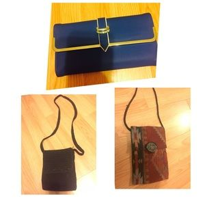 Bundle! 2 should bags & blue clutch