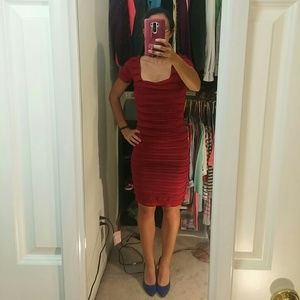 Dark Red bodycon dress