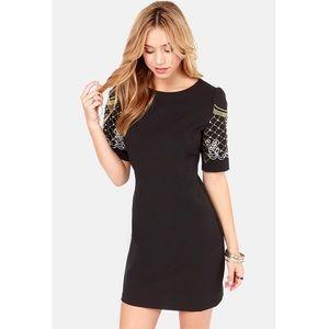✨SALE✨ Lulu's Beaded Black Dress