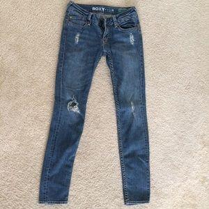 Roxy distressed skinny jeans