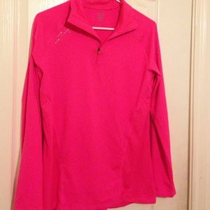 Hot pink athletic jacket by champion!
