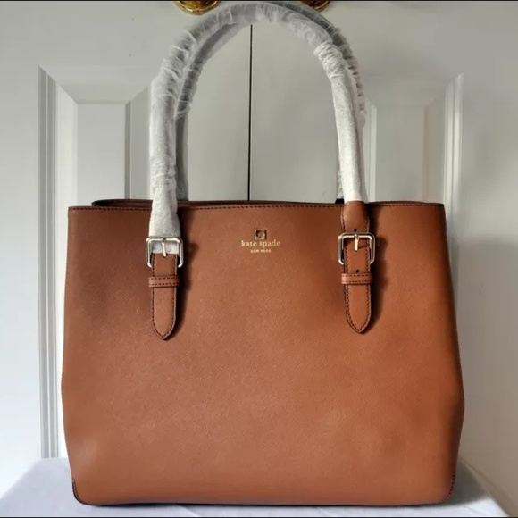 hot-selling limited guantity color brilliancy NWT Brown Leather Kate Spade Handbag NWT