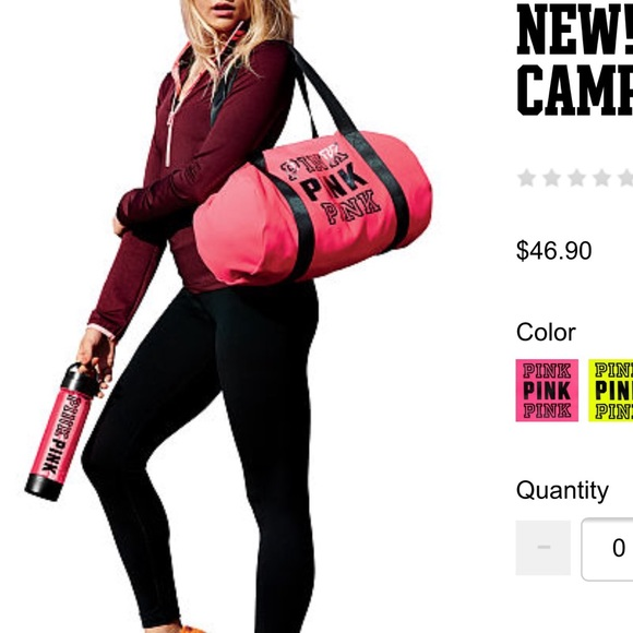 2dc7a9f13a9 Victoria s Secret Bags   Vs Duffle Bag And Water Bottle Pink Bag ...
