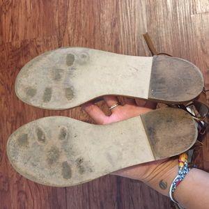 5cffc36431f0 Zara Shoes - ZARA LEATHER ALLIGATOR SANDALS