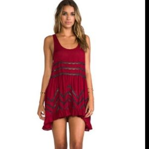 Free People Trapeze Dress (red)