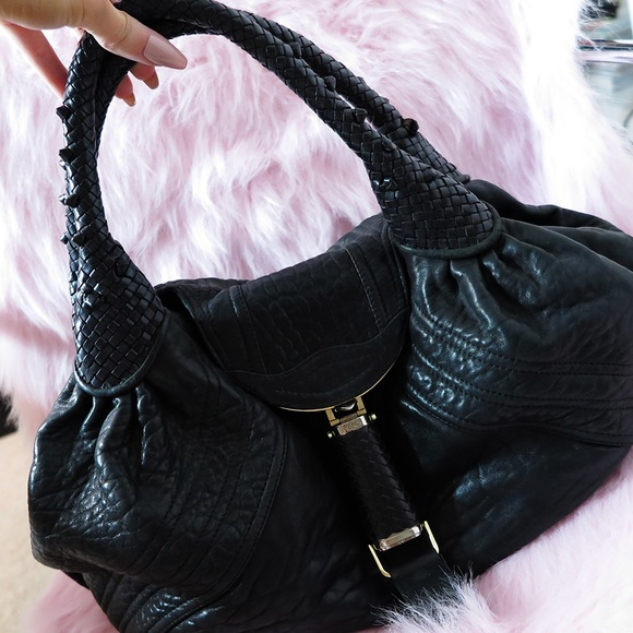 FENDI Bags - Fendi Large Spybag in Black Leather