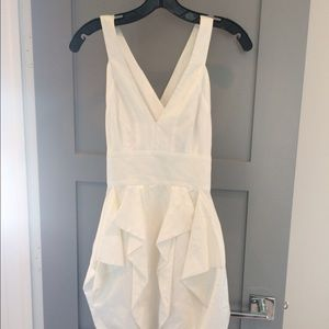 French Connection White V-neck Dress