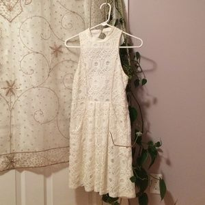 Ivory lace urban outfitters dress