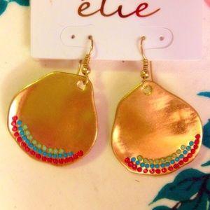Cute & Unique Gold Southwest Style Earrings