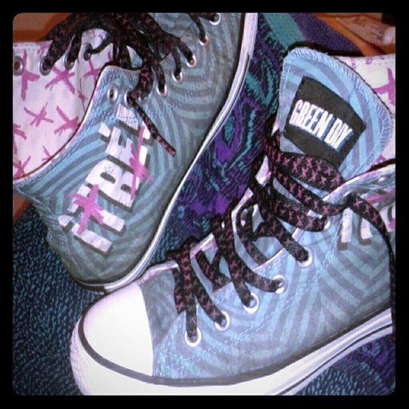 Converse Shoes - Limited Release !tre! Converse Green Day wm 10 c29c8addd