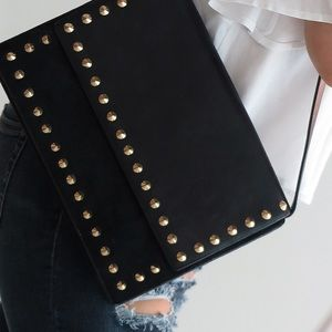ZARA Studded Black Handbag