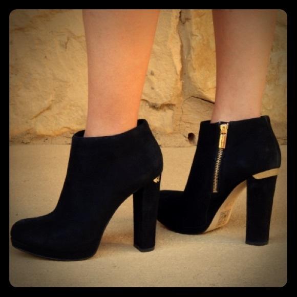 6d6aab7319a18 MICHAEL Michael Kors Shoes | Nwob Michael Kors Black Suede Haven ...