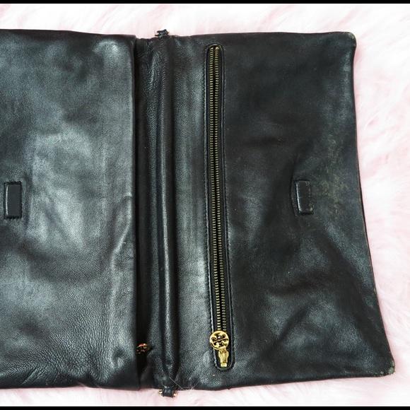 Tory Burch Bags - Tory Burch Croc-Embossed Patent Clutch