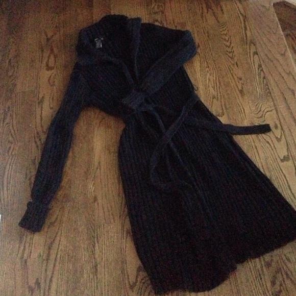 BCBGMaxAzria - BCBG long black sweater jacket, sz M from Lee's ...