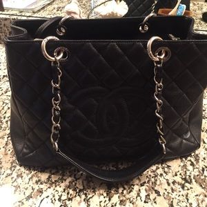 Authentic chanel GST shopping tote