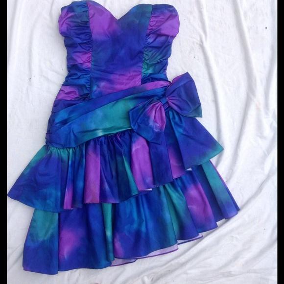 Zum Zum Dresses | Vintage 80s Style Prom Dress Tye Dye | Poshmark