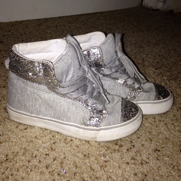 Girls Sparkly High Tops Size 12 In Kids