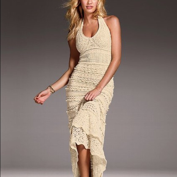 Cream Crochet Maxi Dress