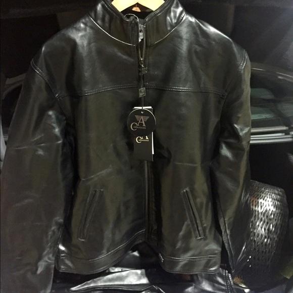 f54505cd4677 Armani collezioni Other - Armani collezioni mens leather jacket! NWT