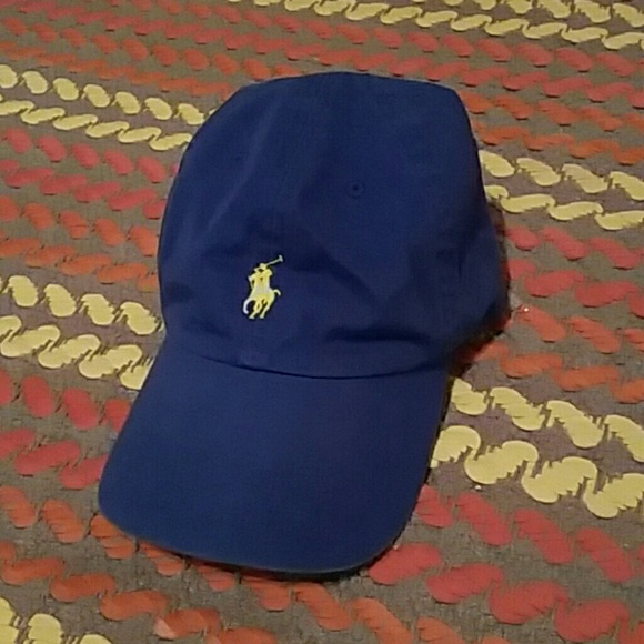 Royal Blue and Yellow POLO Hat. M 55ca36b82e59b8077601a533 de6a087d40e