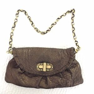 Carla Mancini brown leather handbag