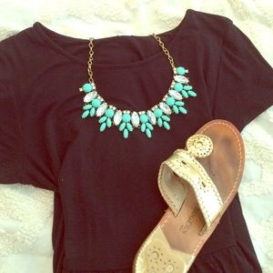 Jewelry - Turquoise and diamond necklace.