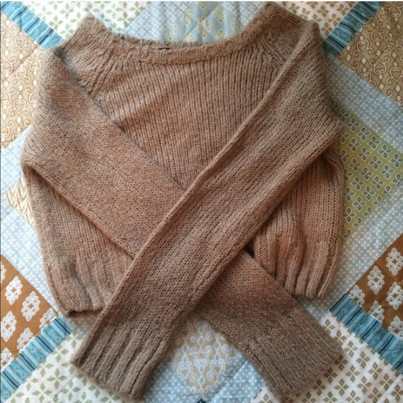 57% off Forever 21 Tops - Light Brown Sweater Crop Top from ...