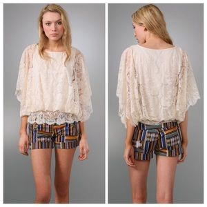 Free People Butterfly Lace Blouse