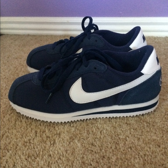 Navy Blue Nike Cortez shoes. M 55ca4815568c8978bf01ab71 c9918e39b