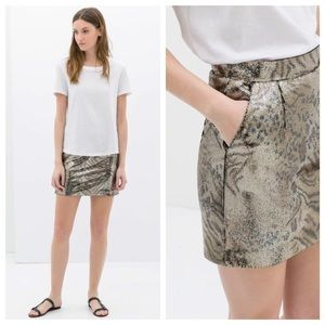 •HOST PICK• Zara Sequin Animal Print Skirt