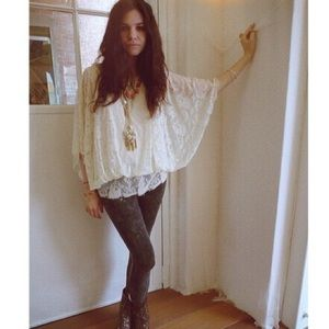 Free People Draped Lace Top