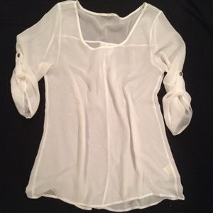 🚫Sold!🚫 Sheer white top