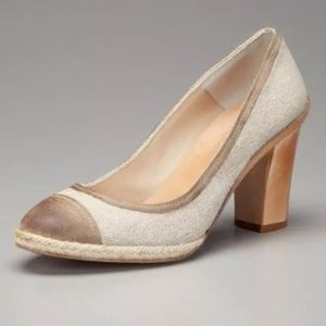 n.d.c. Shoes - N.D.C. Victoria Heels EU 37 US 7 Canvas Leather