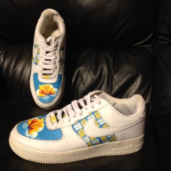 Nike Custom Winnie The Pooh Leather Nikeair Force Shoes