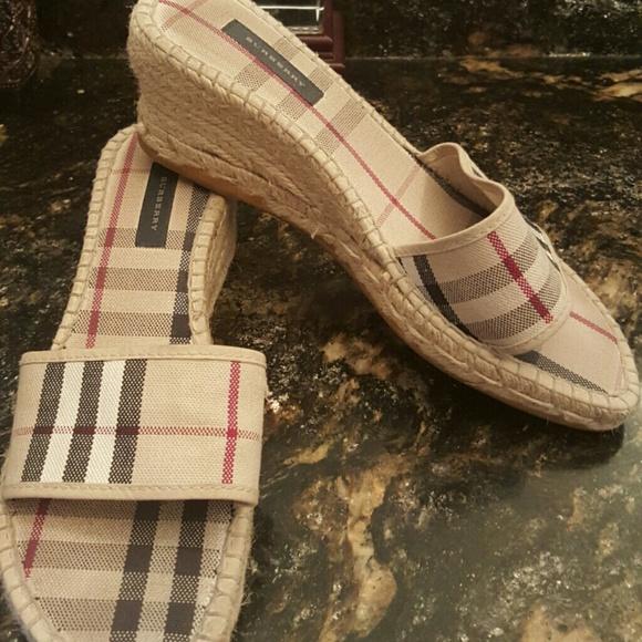 Burberry Shoes - AUTHENTIC BURBERRY ESPADRILLE SLIDES